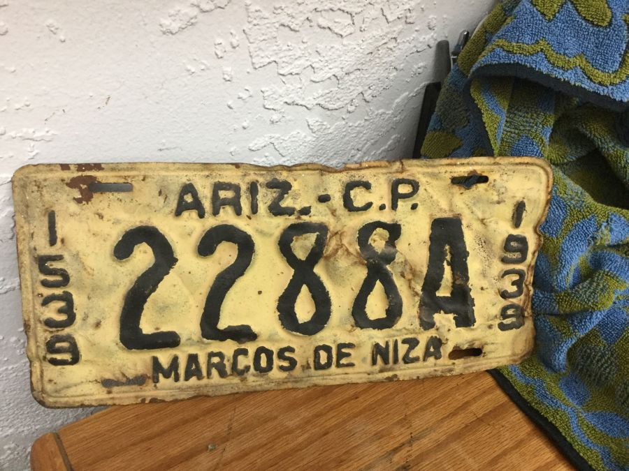 OLD ARIZONA LICENSE PLATES- 1924 thru the 1950\'s. - The Packrats Den